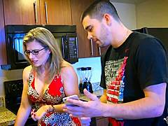 Sexy moms are wearing glasses during Porn Videos