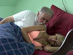 OLD4K. Winsome honey wakes up and is on hand for act of love with old companion Mom Porn