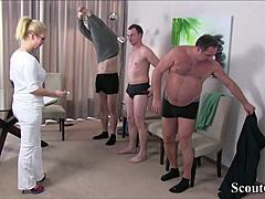 German mamma Nurse fuck with three Stranger beastiality sex element