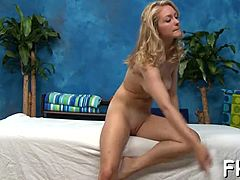 Hot and lush 18yo frenzy old gains smashed from behind by her massage therapist