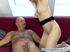 Hot euro youngster team-fucked by a seniors dick